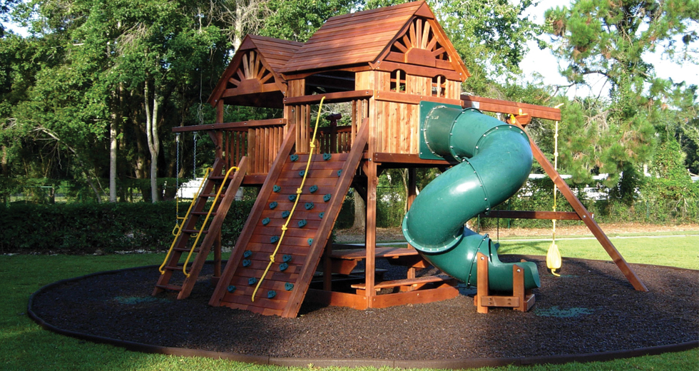 Diy swing sets and slides for amazing playgrounds diy playground diy playground rubber mulch playground rubber mulch diy playground ideas solutioingenieria Choice Image
